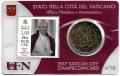 Moneda 50 centimos euro Vaticano 2017. Sello Papa Francisco Nº15