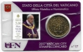 Moneda 50 centimos euro Vaticano 2017. Sello Papa Francisco Nº17