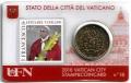 Moneda 50 centimos euro Vaticano 2018. Sello Papa Francisco Nº18