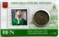 Moneda 50 centimos euro Vaticano 2018. Sello Papa Francisco Nº20