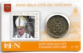 Moneda 50 centimos euro Vaticano 2018. Sello Papa Francisco Nº19