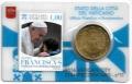 Moneda 50 centimos euro Vaticano 2016. Sello Papa Francisco Nº11
