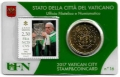 Moneda 50 centimos euro Vaticano 2017. Sello Papa Francisco Nº16