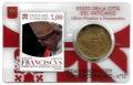 Moneda 50 centimos euro Vaticano 2016. Sello Papa Francisco Nº13