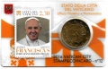 Moneda 50 centimos euro Vaticano 2016. Sello Papa Francisco Nº12