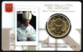 Moneda 50 centimos euro Vaticano 2015. Sello Papa Francisco Nº9