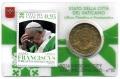 Moneda 50 centimos euro Vaticano 2016. Sello Papa Francisco Nº10