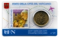 Moneda 50 centimos euro Vaticano 2019. Sello Papa Francisco Nº29
