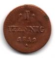 Moneda Alemania - Hesse - Darmstadt 1 PFENNIG 1819 MBC-