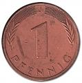 Moneda Alemania 00001 pfennig. 1976 (J). S/C
