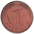Moneda Alemania 00001 pfennig. 1975 (J). EBC