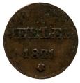 Moneda Alemania - Frankfurt 01 HELLER 1821 BC