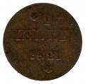 Moneda Alemania - Frankfurt 01 HELLER 1821 MBC