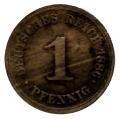 Moneda Alemania 00001 pfennig. 1887 (D). MBC