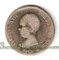 Moneda Alfonso XIII 01 Pesetas 1889 *--.-- (MPM).BC.RARA
