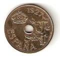 Moneda Alfonso XIII 0,25 Céntimos 1927 (PCS).MBC