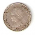 Moneda Alfonso XIII 0,50 Céntimos 1892*9.2 (PGM).MBC