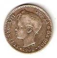 Moneda Alfonso XIII 0,50 Céntimos 1900*0.0 (SMV).MBC+
