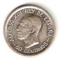 Moneda Alfonso XIII 0,50 Céntimos 1926 (PCS).EBC