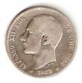 Moneda Alfonso XII 01 Peseta 1885 *--.-- (MSM).BC