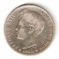 Moneda Alfonso XIII 01 Pesetas 1900 *--.-- (SMV).BC+