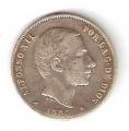 Moneda Alfonso XII 0,20 céntimos peso 1885 .MBC (FILIPINAS)
