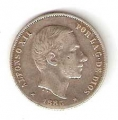Moneda Alfonso XII 0,20 centavos peso 1885 .MBC (FILIPINAS)