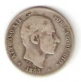 Moneda Alfonso XII 0,20 céntimos peso 1883 .MBC (MANILA)
