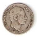 Moneda Alfonso XII 0,20 centavos peso 1883 .MBC (MANILA)