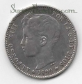 Moneda Alfonso XIII 01 Pesetas 1899 *--.-- (SGV).MBC