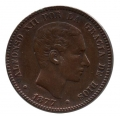 Moneda Alfonso XII 0,10 céntimos 1877 .EBC- (BARNA)OM