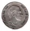 Moneda Alfonso XII 0,10 céntimos peso 1885 .MBC (FILIPINAS)