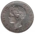 Moneda Alfonso XIII 0,50 Céntimos 1896*9.6 (PGV). EBC-