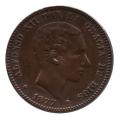 Moneda Alfonso XII 0,10 céntimos 1878 .MBC (BARNA)OM
