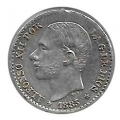 Moneda Alfonso XII 0,50 céntimos peseta 1885*-.6 (MSM).MBC+
