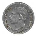Moneda Alfonso XII 0,50 céntimos peseta 1885*8.6 (MSM).MBC