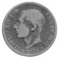 Moneda Alfonso XII 02 Pesetas 1884 *--.-- (MSM).BC