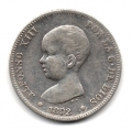 Moneda Alfonso XIII 0,50 Céntimos 1892*9.2 (PGM).EBC