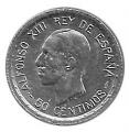 Moneda Alfonso XIII 0,50 Céntimos 1926 (PCS).SC