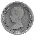 Moneda Alfonso XIII 01 Pesetas 1891 *--.-- (PGM).BC