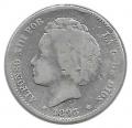 Moneda Alfonso XIII 01 Pesetas 1893 *--.-- (PGL).BC ESCASA