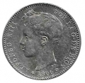 Moneda Alfonso XIII 01 Pesetas 1896 *18.-- (PGV).MBC