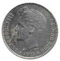Moneda Alfonso XIII 01 Pesetas 1901 *19.01 (SMV).SC