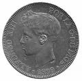 Moneda Alfonso XIII 05 Pesetas 1899 *18.99 (SGV).EBC