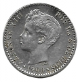 Moneda Alfonso XIII 0,50 Céntimos 1900*00 (SMV).MBC