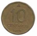 Moneda Argentina 0,10 centavos 1988. MBC