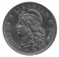 Moneda Argentina 0,50 centavos 1883. SC-