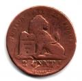Moneda Bélgica 0,02 Centimos 1864 BC