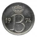 Moneda Bélgica 0,25 Centimos 1974 MBC Belgigue