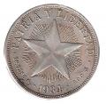 Moneda Cuba 01 Peso 1934 ESTRELLA MBC
